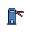 access door flat icon sign symbol vector image