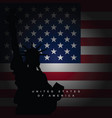 american flag with sign vector image