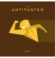 Anti Hero superhero flat style icon logo
