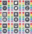 Arrow down Leaf Smartphone Calendar Back Flag Buy vector image