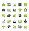 Bank business and finance icons vector image vector image