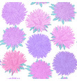 beautiful seamless pattern with flowers asters vector image