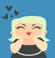 Blond Girl in Love vector image vector image