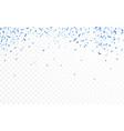 blue confetti celebration carnival ribbons luxury vector image vector image