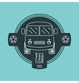 Bus van logo vector image vector image