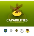 Capabilties icon in different style vector image vector image