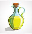 cartoon icon bottle oil vector image vector image