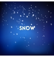 Christmas square blurred background - night snow vector image vector image