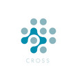 circles icon cross logo template plus vector image