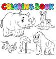 coloring book zoo animals set 1 vector image vector image