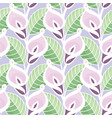 colourful calla lilies pattern vector image vector image
