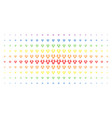 cow head spectrum halftone array vector image vector image
