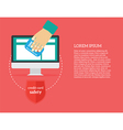 credit card safety vector image