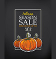 dark poster for autumn sale vector image vector image
