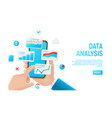 data analysis banner concept vector image vector image