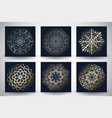decorative mandala style backgrounds vector image vector image