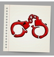 Doodle handcuffs vector image