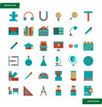 education and learning flat icons set vector image vector image