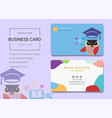 education business card or name card template vector image