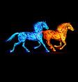 Fair Horse Run2 08 vector image vector image