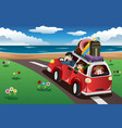 family going on a beach vacation vector image