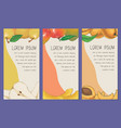 fruit cards or banners template collection vector image