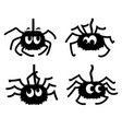 fun spiders black graphic printable vector image vector image