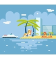 Gigls Sunny Beach Planning Summer Vacation Tourism vector image vector image