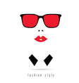 girl fashion icon figure vector image vector image