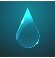 glass blue drop icon vector image vector image