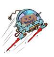 halloween pumpkin in space an autumn holiday vector image