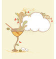 hand drawn retro martini glass and olives vector image