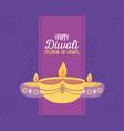 happy diwali festival traditional burning diya vector image vector image