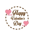 happy valentines day card greeting heart label vector image