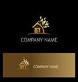 home garden environment gold logo vector image vector image