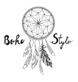 Indian Dream catcher Boho style vector image vector image