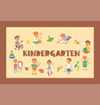 kids cartoon girl boy characters children playing vector image