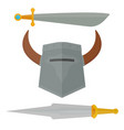knights sword medieval weapons heraldic knighthood vector image