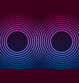 laser neon circle rings abstract tech background vector image vector image