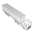 logistic by container truck vector image vector image