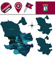 map of madrid with districts vector image vector image