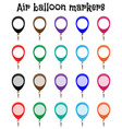 marker mockup air balloon marks vector image