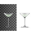 martini cocktail glass with tall stem 3d mockups vector image