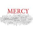 mercy word cloud concept vector image vector image