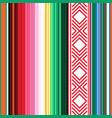 mexican seamless pattern striped texture with vector image vector image