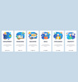 mobile app onboarding screens online education vector image vector image