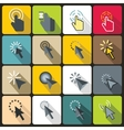 Mouse pointer icons set flat style vector image vector image