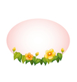 oval with flowers border vector image