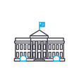 parliament building linear icon concept vector image