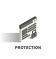 protection icon symbol vector image vector image